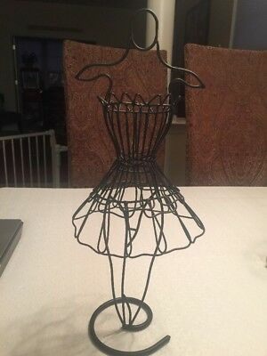 "Decorative Metal Dress Form (17.5""Tall) Black Metal"