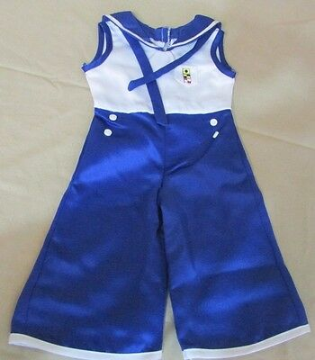 "American Girl KIT PJ Beach Pajamas Blue Sailor Retired 18"" Doll"