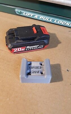 Bauer Harbor Freight 20V Battery Wall Dock, Mount, Storage, 2Pack, Puck Style
