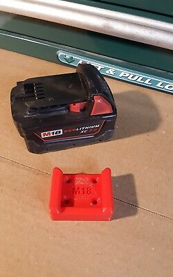 M18 Wall Dock, Mount, Store Milwaukee M18 Battery, 2 Pack, Puck Style
