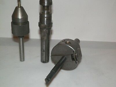 Bridgeport Milling Machine Tools, Craley Boring Head, R8 Arbor, Drill Chuck