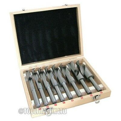 8 PCE BLACKSMITH REDUCED SHANK HSS HIGH SPEED STEEL TWIST DRILL BIT SET 14mm-25m