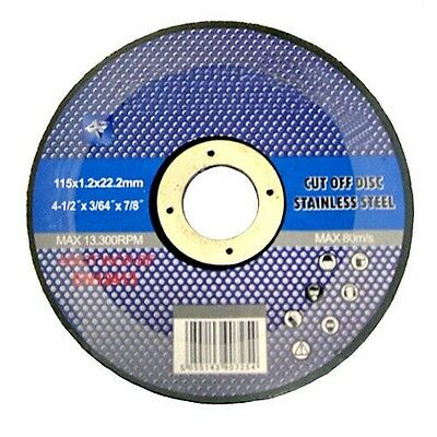 "10 X 4 1/2"" Thin Stainless Steel Metal Cutting Disc Angle Grinder 4.5"" 115Mm"