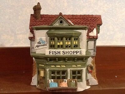 Dept 56 Dickens Village - The Mermaid Fish Shoppe -  #59269 - mint