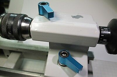 UNIMAT 3 Lathe Tailstock Clamping Levers - BLUE
