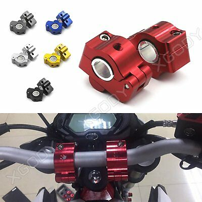 Motorcycle 22mm 7/8'' HandleBar Fat Bar Mount Clamps Risers Aluminum For Honda