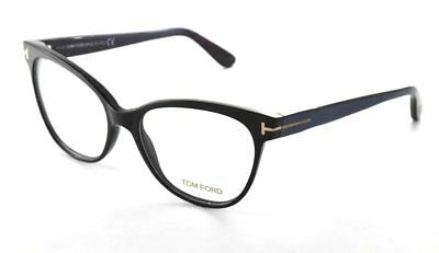 TOM FORD Eyeglasses TF 5291 005 Black Iridescent Chalkstripe RX Women Frame 55mm
