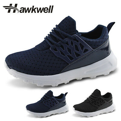 Hawkwell Kids Lace-up Running Shoes Boys Girls Khaki Outdoor Athletic Sneakers