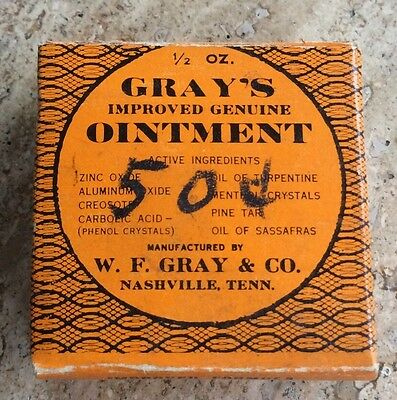 Vintage Advertising Gray's Ointment Box 1950's