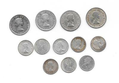 $ 1.80 in good Canadian silver coins 12 coins