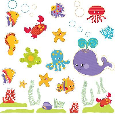 Brewster Fisher-Price ST99797 Peel & Stick Ocean Wonders Wall Decals, 4-S... New