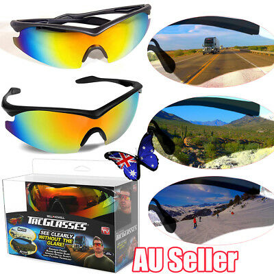 Bell+ Howell Tac Glasses Military PolarIized Sunglasses Enhance Color With Box T