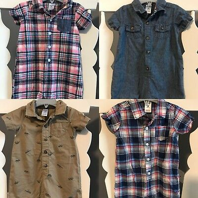 Carters Baby Boy Rompers Size 9m (Set Of 4)