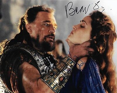 Brian Cox Rose Byrne Signed Agamemnon Briseis Troy 8x10 Photo