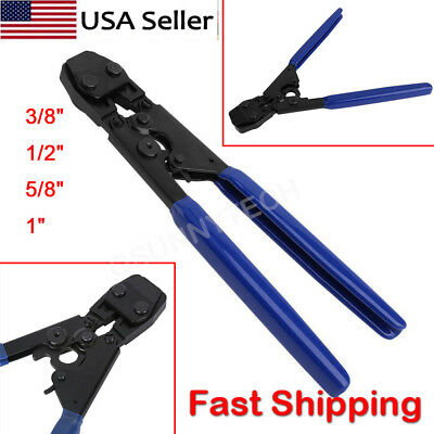 "PEX Cinch Crimp Crimper Crimping TOOL for SS Hose Clamps Sizes from 3/8"" to 1"""
