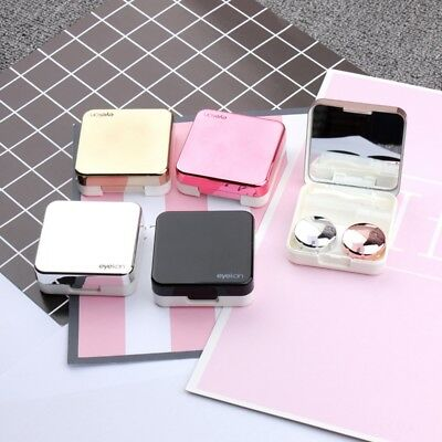 Contact Lens Portable Mini Plastic Travel Holder Storage Soaking Box Case New