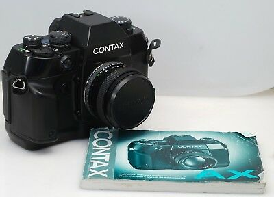 Contax AX w/ 50mm 1.7 Zeiss Planar, cap and Instructions...... REALLY NICE!