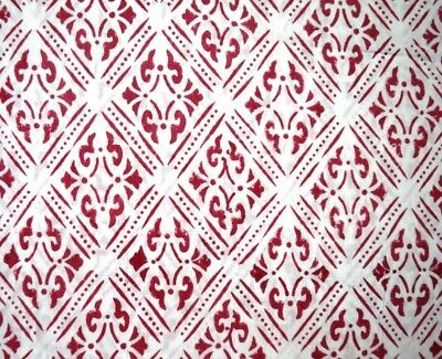Hand Block Print Cotton Fabric Women Dress Natural Dyed Cotton For Decor