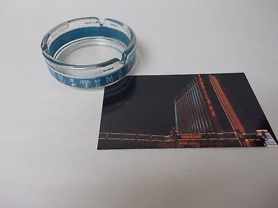 Vintage Tropicana Hotel Casino Las Vegas Glass Ashtray & Vintage Post Card