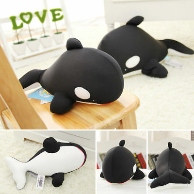 Soft Black Whale Stuffed Plush Doll Pillow Chair Cushion Baby Kids Play Toy Gift
