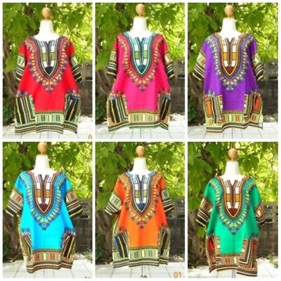 Men dashiki african shirt hippie tribal top blouse women haute clothing vintage