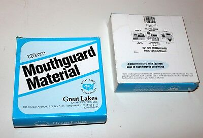 Great Lakes Ortho Mouthguard Material 1mm/125mm Round Clear 24 Pieces (2 box)