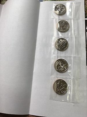 COMPLETE SET Of Five 2017-S UNCIRCULATED NATIONAL PARK QUARTERS
