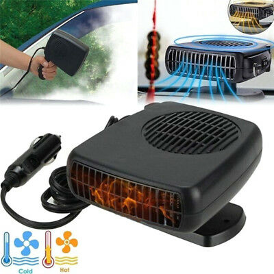 Car Portable 2 in 1 Ceramic Heating Cooling Heater Fan Defroster Demister Fast .