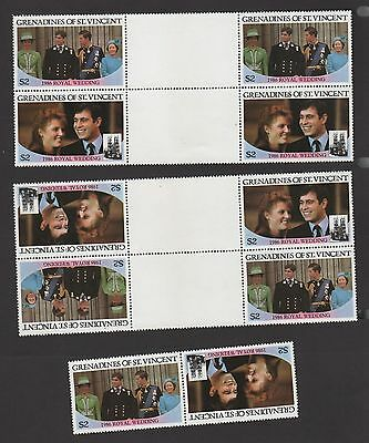 Saint Vincent Grenadines 1986 Royal Wedding SC#540 Tete-beche Gutter Set Bileski