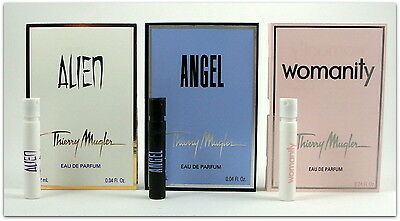 Angel + Alien + Womanity Thierry Mugler Eau Parfum 3 Units X 1.2 Ml. 0.04 Fl.oz
