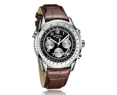 Rotary Men's  Chronograph Leather Strap Watch Model GB03351. *Brand New In Box*