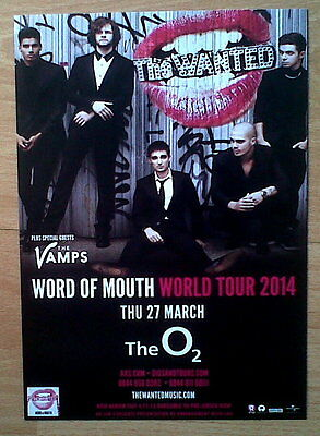 The Wanted - The Vamps - Concert Flyer - Word Of Mouth World Tour