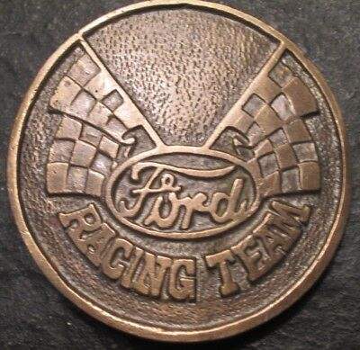 Vintage Ford Racing Team Taiwan Solid Brass Belt Buckle