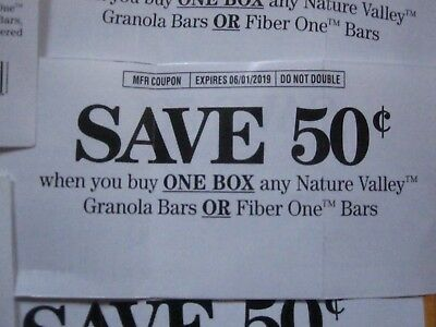 Lot of Nine Nature Valley/Fiber One Coupons save $4.50!