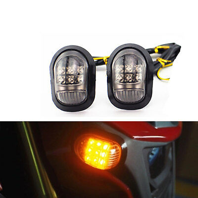2pcs Motorcycle LED Turn Signal 12V Blinker Tail light Indicators Amber Bike