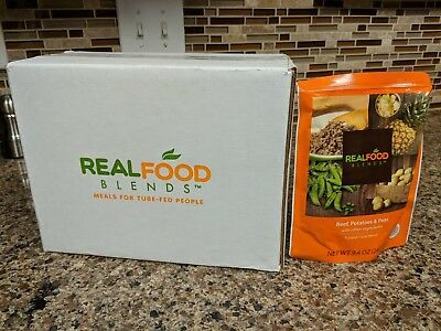 Real Food Blends - Beef, Potatoes, Peas Flavor - Box of 12 Meals for Tube-feeds