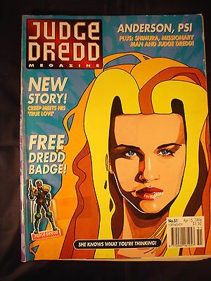 Judge Dredd Megazine - Issue 51 - Apr 15, 1994 -  With Badge