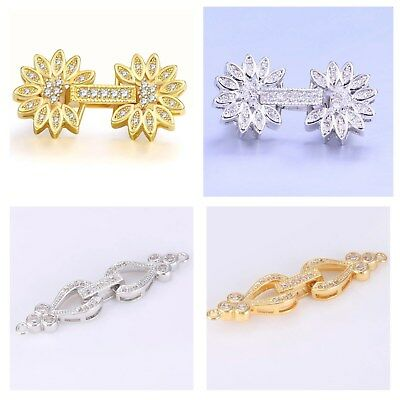 CUBIC ZIRCONIA Micro Pave Charm Connectors Clasps Closure - HIGH QUALITY!!
