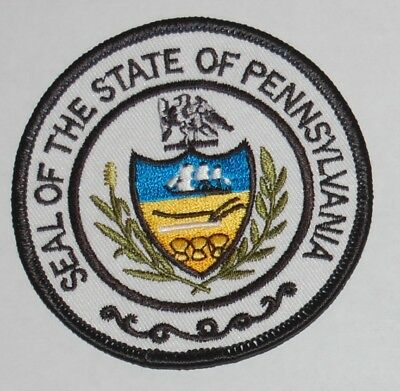 """Seal Of The State Of Pennsylvania Embroidered Patch 3"""" New"""