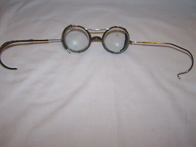 Vintage Round Clear Safety Goggles Glasses / Steampunk