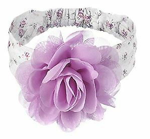 Sweet Roses Infant Child Girl's Headband with Lilac Chiffon Flower 0 - 12 Months