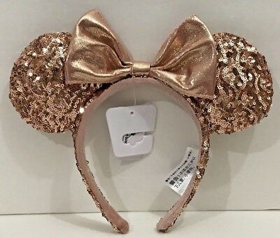 Disney Parks Exclusive Rose Gold Headband Minnie Mouse Ears New