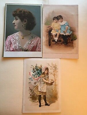 3 Vintage Trade Cards C. D. Kenny Roasted Coffees Baltimore MD Advertisement