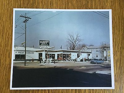 Vintage 1960s Gasoline Quaker State Products Gas Oil Service Station Photo Print
