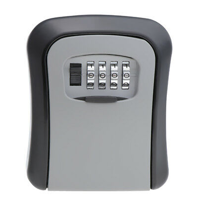 Security Outdoor Wall Mounted Key Safe Box Secure Lock Combination Outside