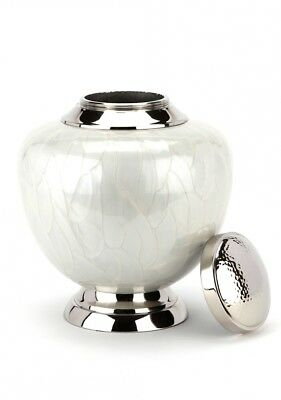 CLEARANCE Hyde White Cremation Ashes Urn - UU100037B