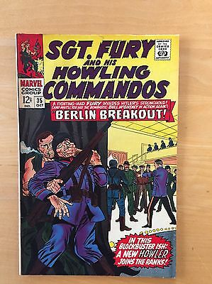SGT. FURY & HIS HOWLING COMMANDOS #35 (Marvel 1966) F- to F Copy HITLER COVER!