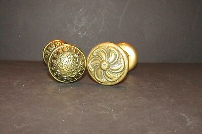 antique vintage heavy bronze brass doorknob sets architectural salvage 2 sets