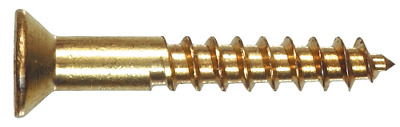 The Hillman Group 41839 Brass Flat Head Phillips Wood Screw, 8 x 2-Inch, 50-Pack