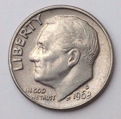 Dated : 1968 - USA - Roosevelt - One Dime - Coin - United States of America